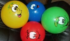 "Smiley Face Pvc Kids Football 8.5"" Uninflate Parties Pools Indoor Cartoon Balls"