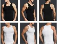 Mens compression tshirt Underwear slimming body shaper vest