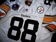 Pittsburgh Steelers #88 Lynn Swann Throwback HOF patch White sewn Jersey NEW