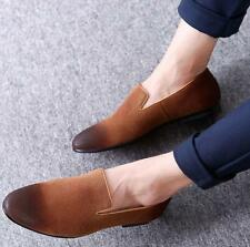 New Men suede leather slip on loafer driving shoes pointy toe dress formal shoes