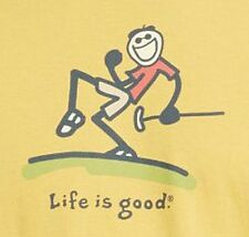 NWT Life is Good Men's T Shirt Jake Grill GOLF Golfing Club Pump Putt Small S