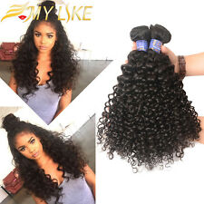 Kinky Curly Weave Human Hair Extensions 100% Unprocessed Peruvian Hair 3 Bundles