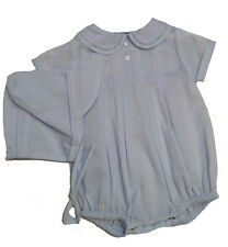 Petit Ami Boys Baby Blue Romper with Hat Preemie Infant  NWT