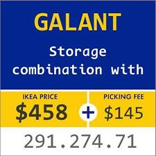 New IKEA GALANT Storage combination with doors, white 291.274.71