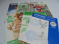 Knitting Machine Pattern Books PICK a Book Patons,Singer, Brother, Knitmaster