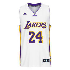 Adidas Men's Basketball Swingman LA Lakers Kobe Bryant White Jersey H83057 NEW!