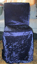 64 VELOUR WEDDING CHAIR COVERS FOR SALE.MIDNIGHT BLUE