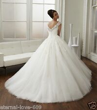 New White/Ivory Lace  Bridal Gown Wedding Dress Custom Size 4 6 8 10 12 14 16++
