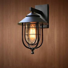 Loft Style Iron Porch Wall Lamp Waterproof Sconce Wall Light Fixture 5507U