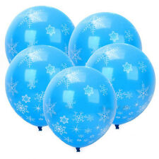 12PCS Christmas Latex Balloons Party Supplies Decorations Frozen Snowflake New