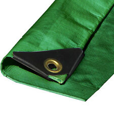 10 mil Heavy Duty Canopy Tarp Green 3 ply Coated Tent Car Boat Cover (5% off 2+)