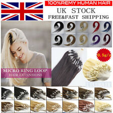 16''-26''Staight Remy Micro Loop Ring Beads Remy Human Hair Extensions 100s