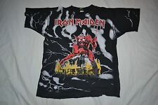 Iron Maiden The Number of the Beast Original Vintage T Shirt 1992 Full Print