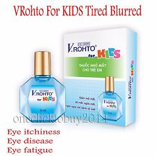 Rohto Mentholatum EyeDrops for KIDS (4 Months Old and More) Tired Blurred