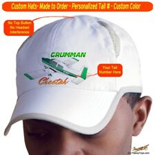 Grumman AA-5A Cheetah Cap Custom Airplane Pilot Hat - Personalized with Your N#