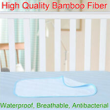 70x55cm High Quality Soft Baby Bamboo Fiber Waterproof Changing Mat Urine Pad
