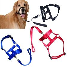 Soft No Pull Pet Dog Head Collar Gentle Halter Leash Leader for Training Dogs