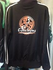 EMBROIDERED CELTIC IRELAND TRACK JACKET IRISH KNOTWORK SPIRAL GUINNESS JERSEY