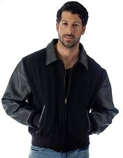 Corporate Varsity Jacket Quality Leather Wool Coat Union Made in USA by REED