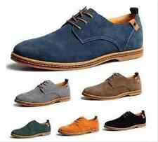 Men's Casual Suede leather Shoes Classic oxfords Flats Lace Sneakers Up US 6-13