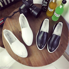 Fashion Women Slip On Rivet Comfort Flat Loafers Platform Casual Shoes Sneakers