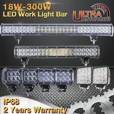 "30w-300w/4""inch-28""inch Led Work Light Bar Spot/Flood Beam Offroad 4x4WD ATV UTE"