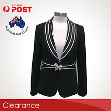 BL21886 Quality Crystal Button Women Slim Casual Business Blazer Coat Jacket