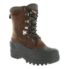 Itasca TUNDRA Youth Boys Brown Lace Up 200g Insulated Winter Snow Boots