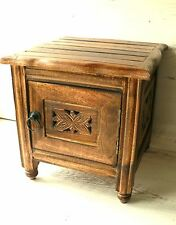 solid mango wood carved stool with small cupboard carved solid mango wood