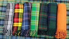 "Men's Kilt Fly Plaid Various Tartan 48"" X 48""/Scottish Fly Plaids Acrylic Wool"