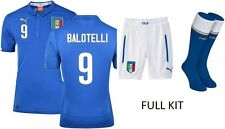 PUMA Full Italy Home Football Kit Balotelli No.9 Shirt, Shorts, Socks BNWT