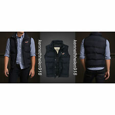 NWT HOLLISTER MENS BROOKS BEACH VEST DOWN JACKET NAVY SIZE SMALL