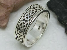 celtic Knot Band Ring Viking 925 Silver Ring solid celtic