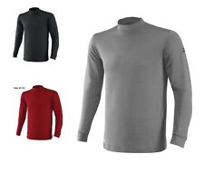 NWT Mizuno Breath Thermo Wool Mock Neck LongSleeve Absorbs Moisture Golf Shirt
