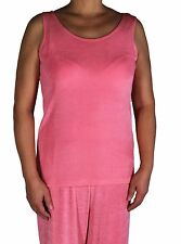 Women's Coral Tank Top Acetate With Plus Size Slinky Travel Knit Stretch Casual