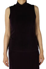 Burgundy Turtle Neck Tank Top Slinky With Plus Size Women Apparel Casual Wear