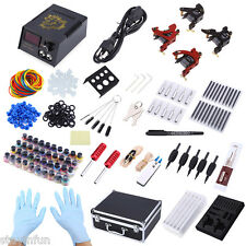 Complete Tattoo Kit 4 Machine Guns Shader Liner  40 Color Inks Needles