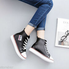 Fashion Street Women Hi-Top Sneakers Trainer Boots Casual Lady Girls Board Shoes
