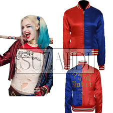 Harley Quinn Halloween & Cosplay Costume Suicide Squad Satin Jacket