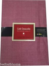 NEW Burgundy Red Vinyl Tablecloth - Restaurant Quality - Cafe Deauville