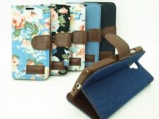Retro Cloth Style Stand Wallet Leather TPU Cover Case For iPhone 4 5 5C 6 7 Plus