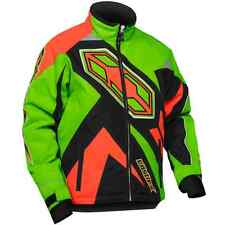 Castle X™ Youth Boy's Launch Insulated Snowmobile Jacket - Green/Orange - 72-434