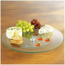 25cm Tempered Glass Rotating Lazy Susan Turntable Serving Plate. Shipping Includ