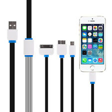 New 4 in 1 Multi USB Charger Cable Lead for iPhone,Samsung,HTC,MOTO,SONY,etc.