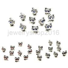 10pcs charm Silver Cat spacer beads DIY Jewelry Fit for necklace Bracelet