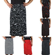 New Arrival  Stripe Half Apron With Pocket Chef Waiter Kitchen Cook Fashion