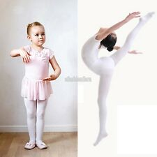 New Children Girls High Elastic Stockings Dance Footed Tights Pantyhose EFFU
