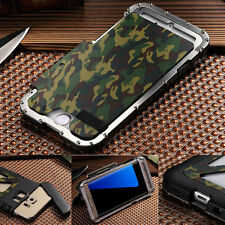 Armor Army Camo Camouflage Flip Cover Metal Case For Samsung S8 Note8  iPhoneX