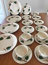 VTG BLUE RIDGE IVY SOUTHERN POTTERY DINNERWARE:PLATES, BOWLS, & CUPS~MADE IN USA