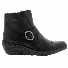 Fly London Pais 655 Fly Nevada Wedge Black Womens Boots